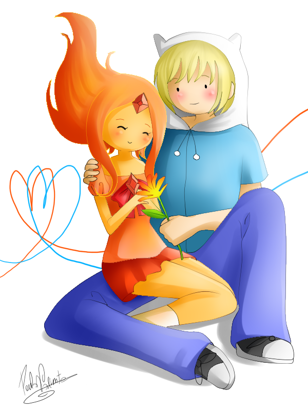 Flame y Finn by Nasuki100