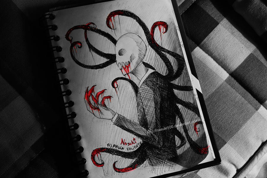 Slenderman Sketch by Nasuki100
