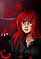 Red Butterflies by Nasuki100