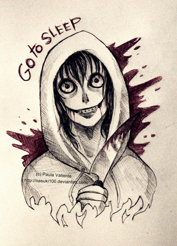 Jeff the killer - ballpoint pen by Nasuki100