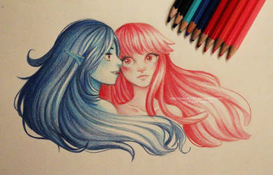 Bubbline - colors pencils by Nasuki100