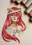 Lucy - Elfen lied - Copic Markers