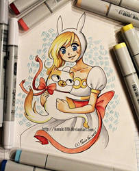 Fionna and Cake - copic markers