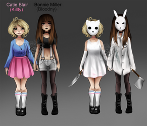 Catie and Bonnie - Original Characters