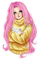 Fluttershy - old drawing redraw by Nasuki100