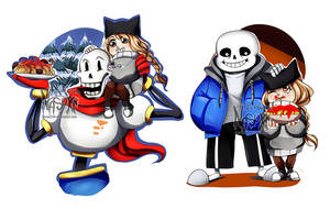 Nasuki with the skeleton brothers by Nasuki100