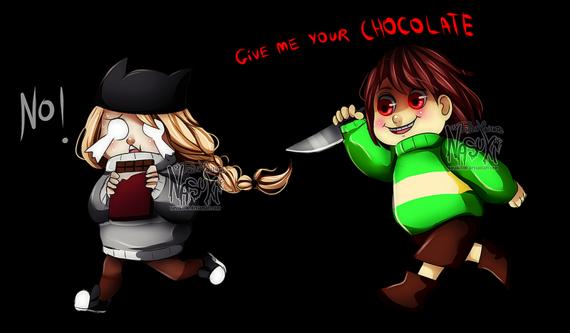 give me your CHOCOLATE by Nasuki100