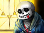 Death of Sans - Nintendo 3DS drawing