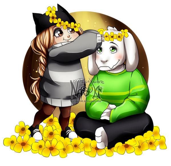 Nasuki and Asriel by Nasuki100