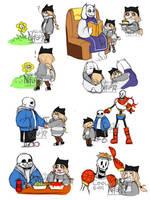 Nasuki in Undertale sketches by Nasuki100