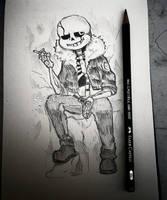 Gaster!Sans sketch by Nasuki100