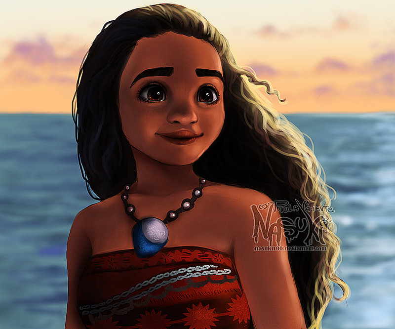 Moana - screenshot redraw by Nasuki100 on DeviantArt