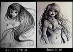 Demon's tears - Old drawing redraw