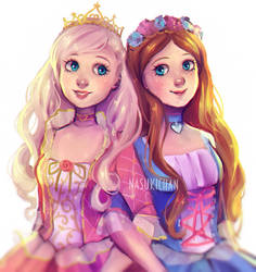 Anneliese and Erika by Nasuki100