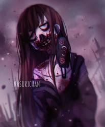 Zombie self portrait by Nasuki100