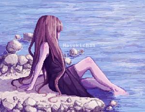 quiet water - pixel art