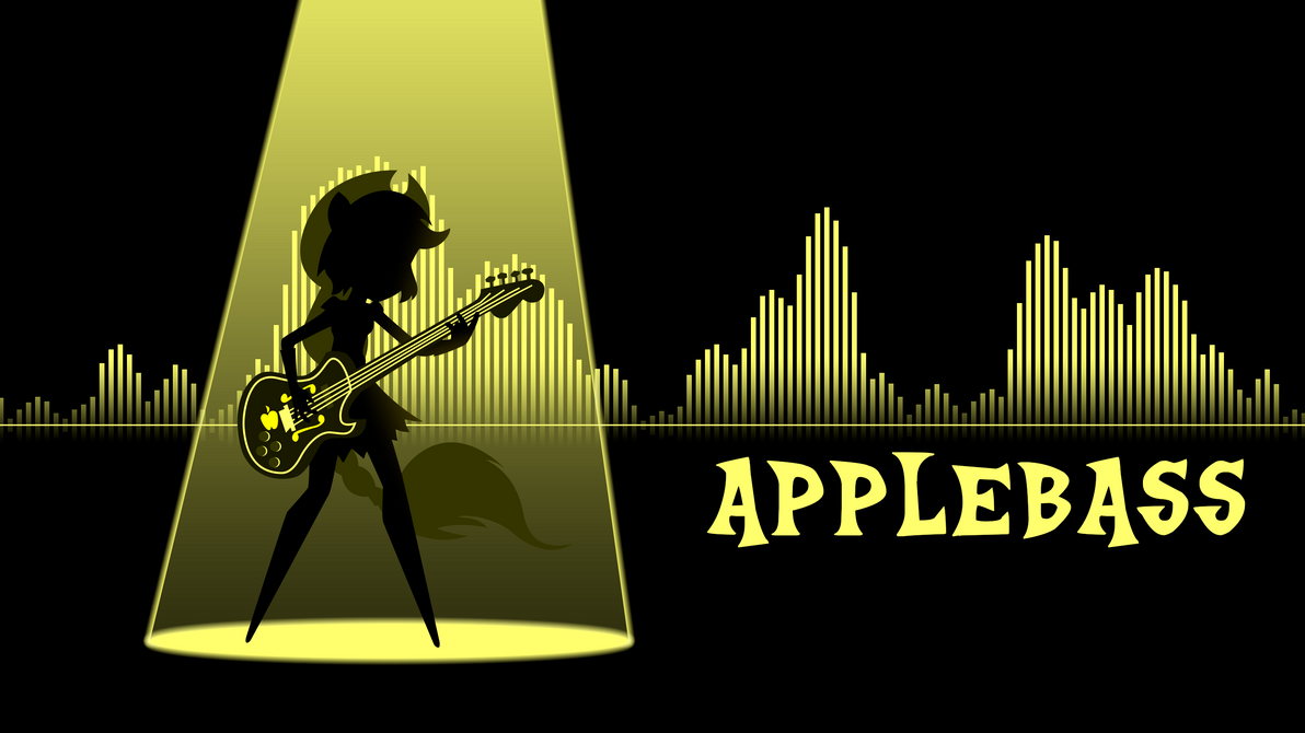 Applebass wallpaper - equalizer style by ManeFunction