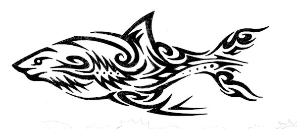 Cool tribal shark drawings