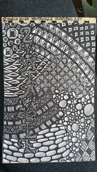 my very first zentangle inspired art piece by branika