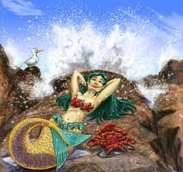 basking mermaid - color by phodyr