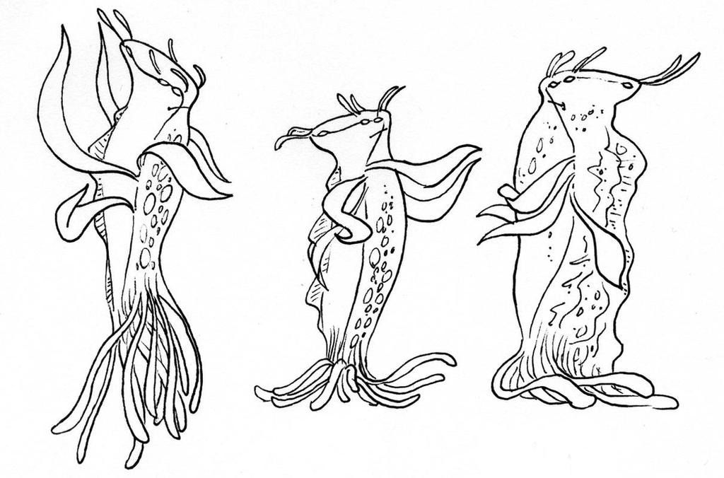 Undersea Creatures 1 by phodyr