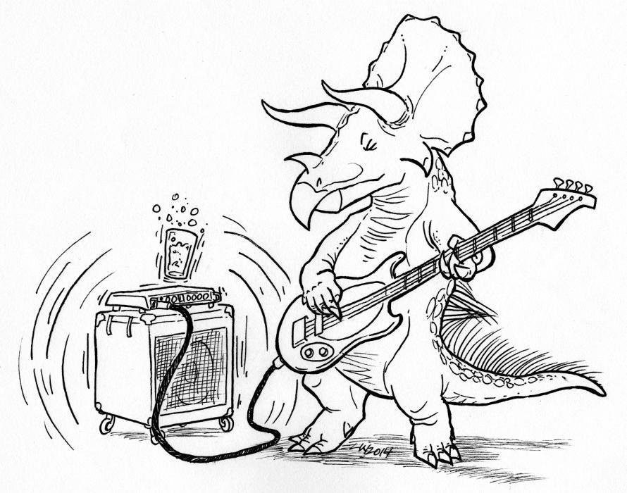 Triceratops horridus, bass player by phodyr