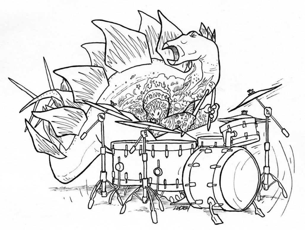 Stegosaurus stenops, drummer by phodyr