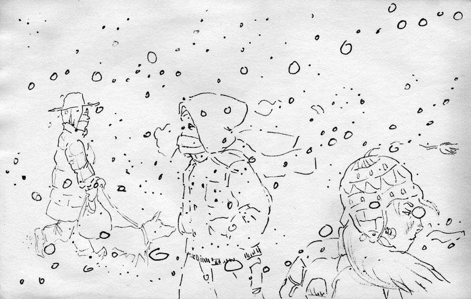 Sketch - snowing by phodyr