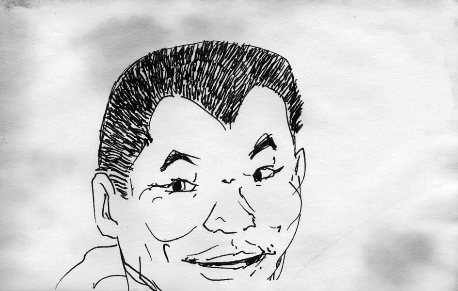 Sketch - Chinese man on bus by phodyr