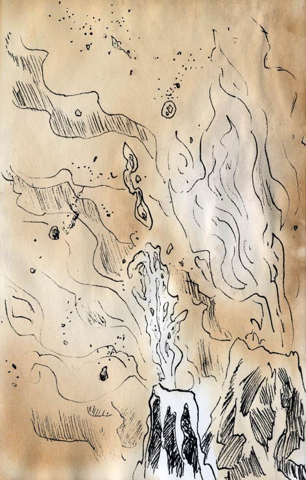 Sketch - erupting spires by phodyr