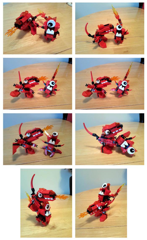 Lego Mixels Meltus and Flamzer panels 1-6 by phodyr