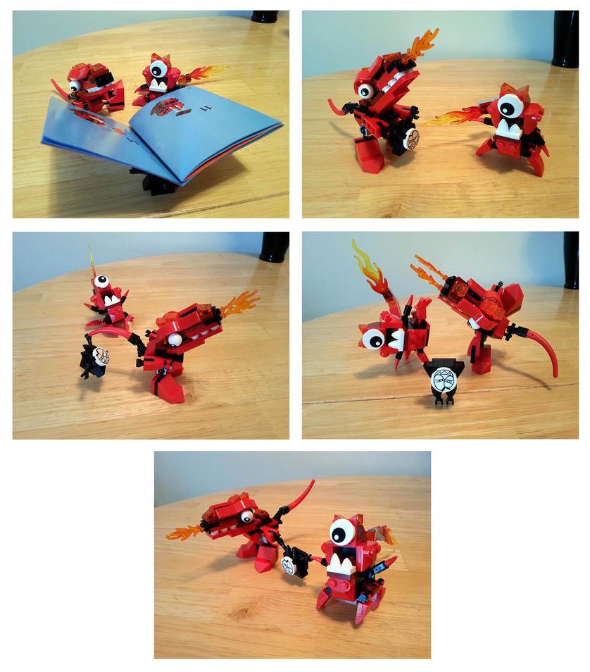 Lego Mixels Meltus and Flamzer panels 7-13 by phodyr