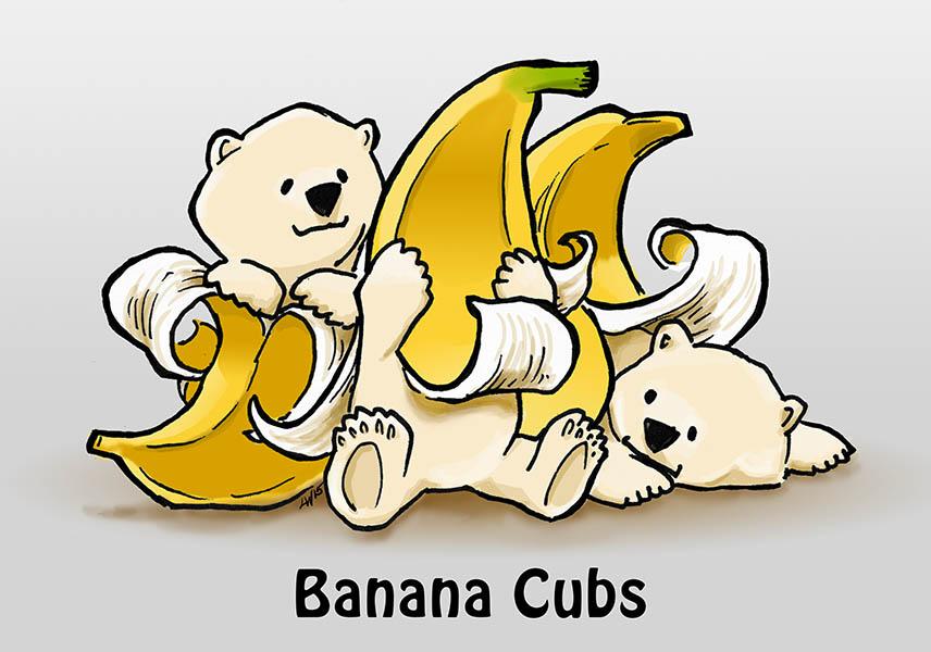 Banana cubs by phodyr