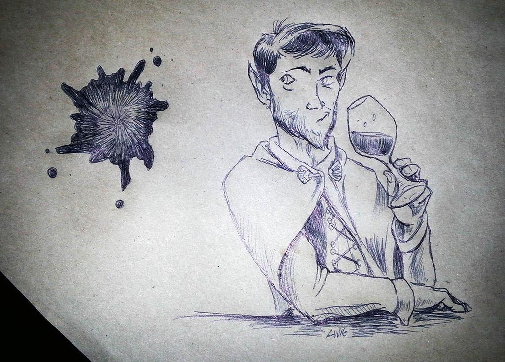 Dinner doodle by phodyr