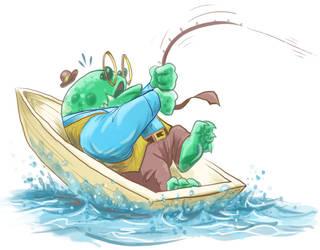 Toad Fisherman
