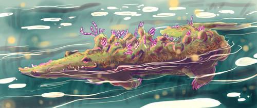 Victhulhu crocodile color test