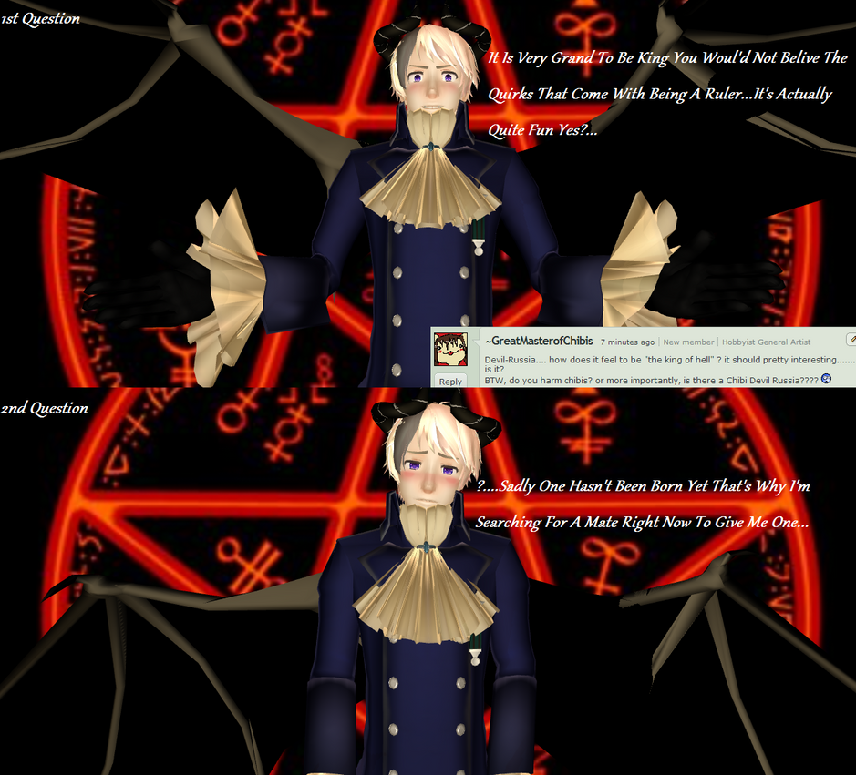 Lucifer Question: Devil Question 04 Answered By MMD-Ask-DevilRussia On