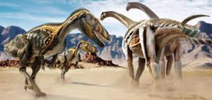Torvosaurus vs Camarasaurus by epic3d