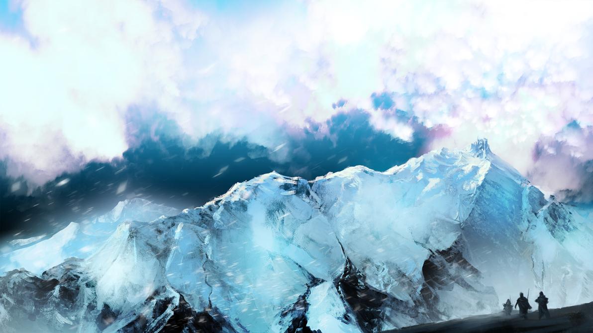 snowy mountain by Estrada