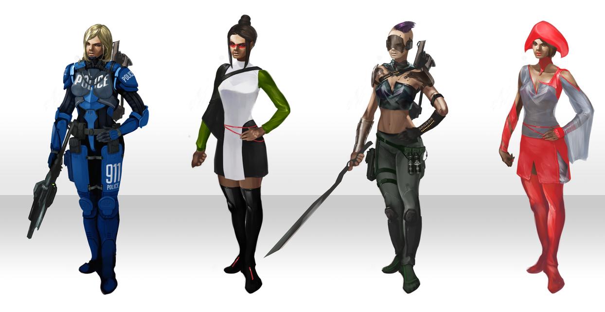 character concepts by Estrada