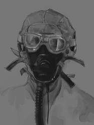 US Airman WWII by Estrada