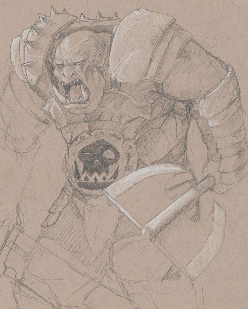 Yet another orc sketch by RRJones