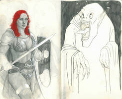 Red Sonja and The Scaredy-Vampire by RRJones