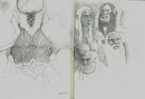 Warcraft Inspired Sketches by RRJones
