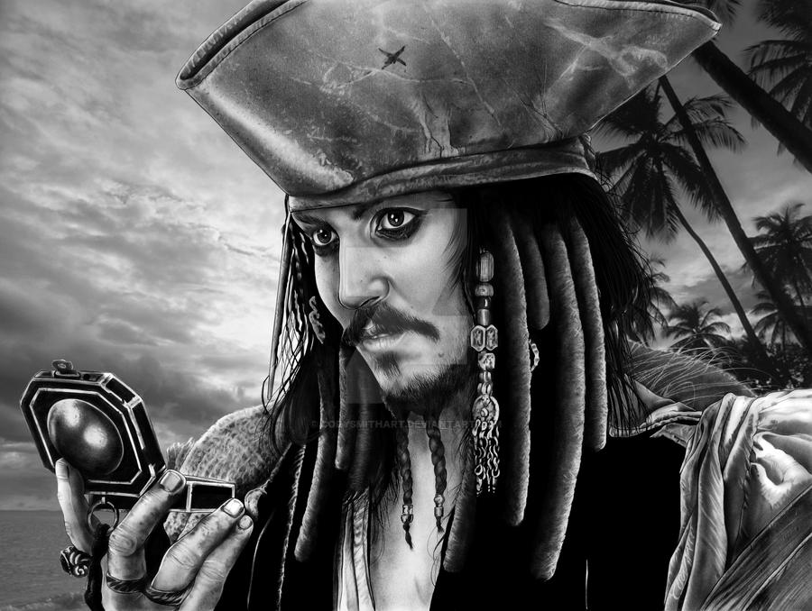 Jack Sparrow with background by corysmithart