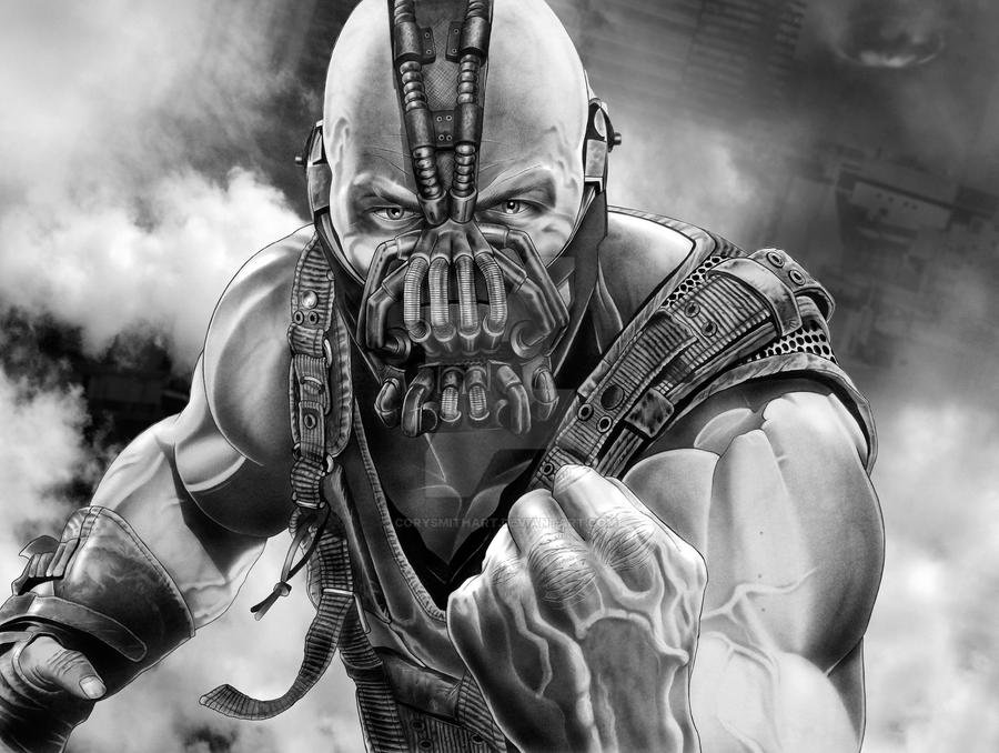 BANE With Background by corysmithart on DeviantArt