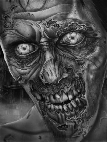 roger final zombie print by corysmithart - Zombie Pictures To Print