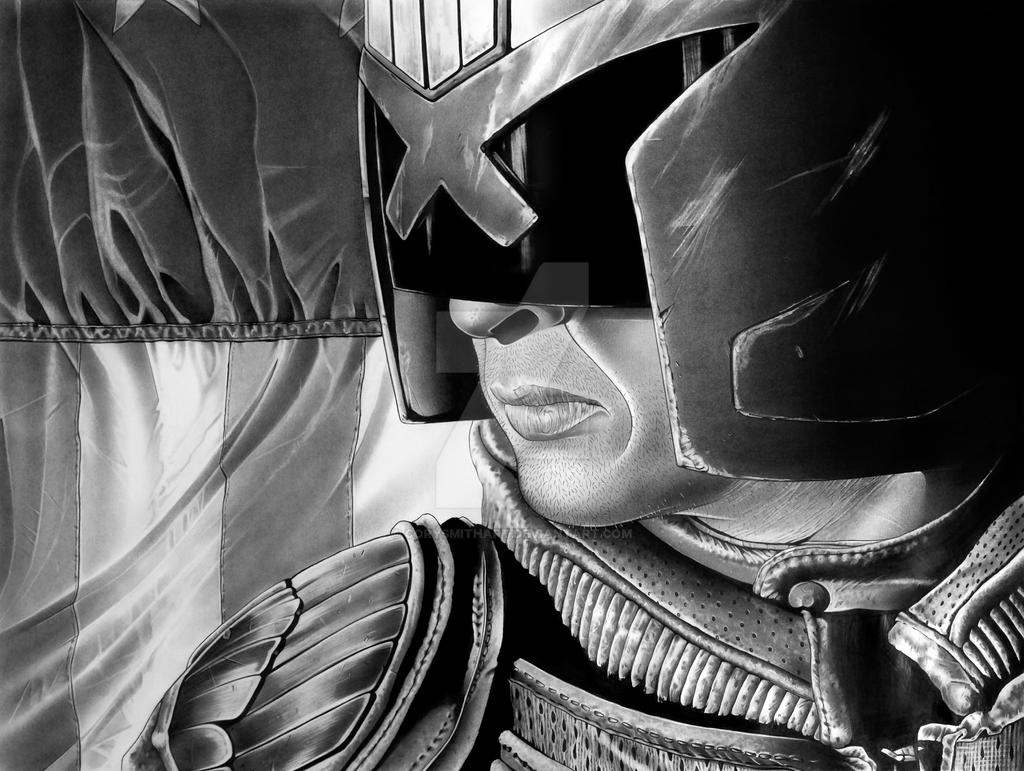 Judge Dredd Print by corysmithart