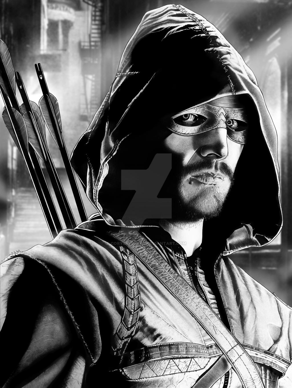 Arrow Final With Background by corysmithart