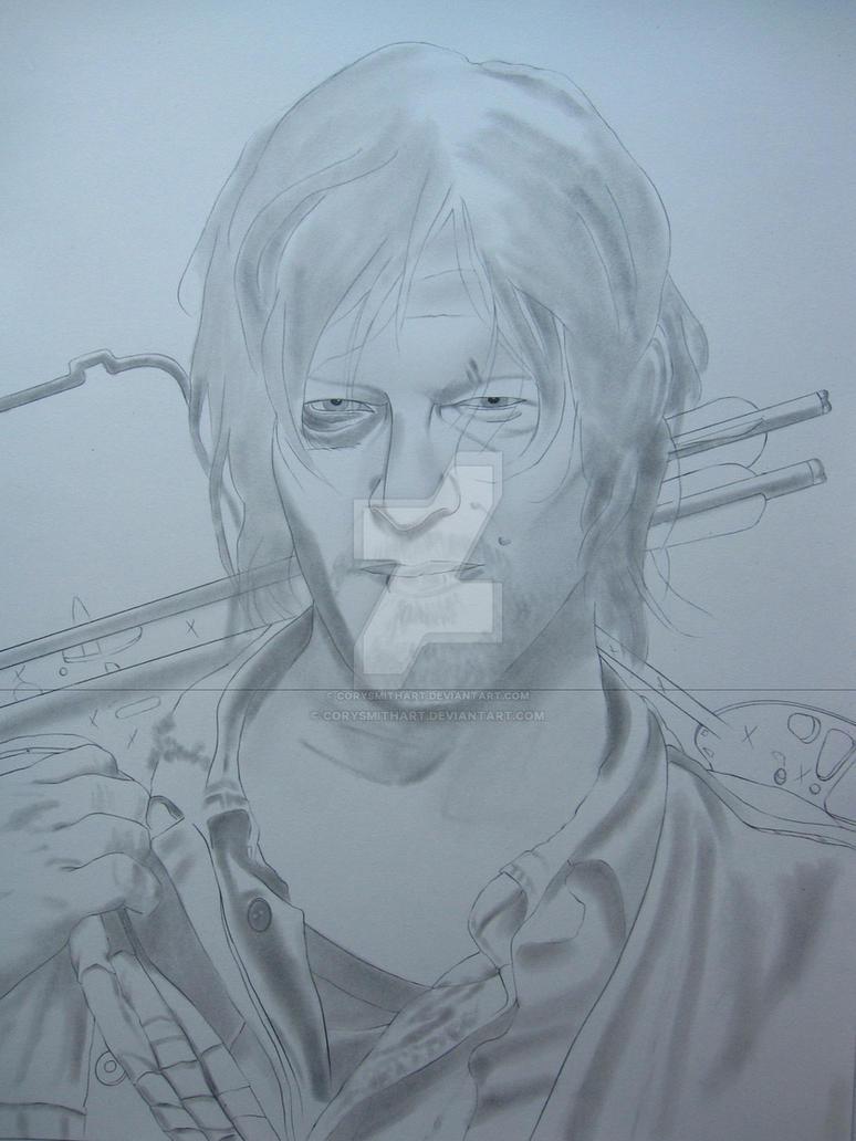 Daryl Dixon WIP I by corysmithart